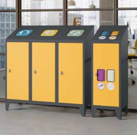 Metall-Recyclingbehälter - Verzinkter Behälter - 700x295x357 mm (HxBxT)