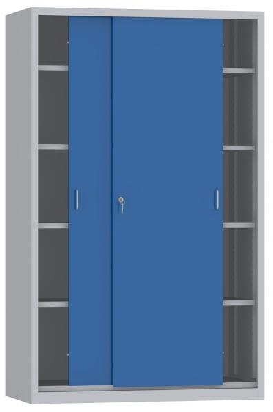 Schiebetürenschrank - 4 Einlegeböden - 1950x1200x600 mm (HxBxT)