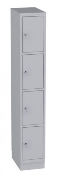 Schließfachschrank - 1 Abteil - 4 Fächer - 1950x320x480 mm (HxBxT)