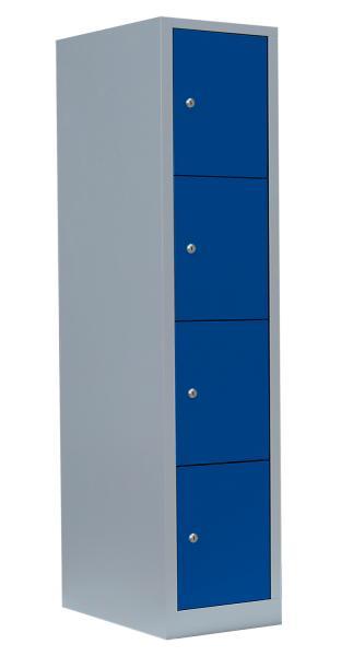 Schließfachschrank - 1 Abteil - 4 Fächer - 1800x415x500 mm (HxBxT)