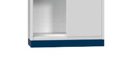 Hubwagensockel - für Schiebetürenschrank SP2 - Höhe: 100 mm