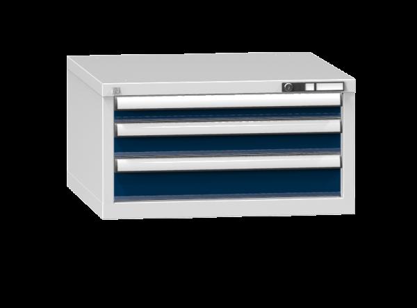 Schubladenschrank - Standcontainer -1+1+1 Schublade - 390x731x753 mm (HxBxT)