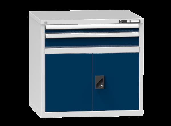 Schubladenschrank - Standcontainer - 1+1 Schublade, 1x Tür 550 mm - 840x884x753 mm (HxBxT)