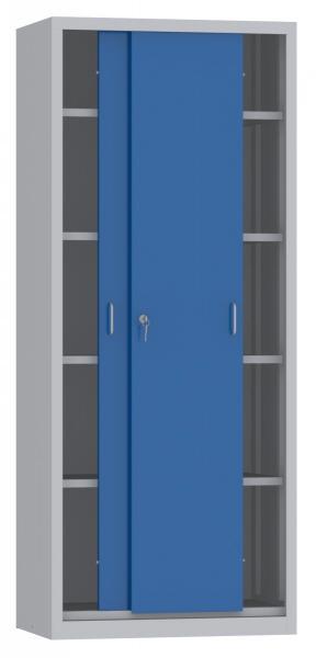 Schiebetürenschrank - 4 Einlegeböden - 1950x800x500 mm (HxBxT)