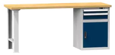 Arbeitstisch KOMBI 800 - 1 + 1 Schubladen, 1 Tür, 1 Fachboden
