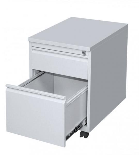 Rollcontainer - Frontgriff - 1 Schublade + 1 Hängeregistratur - 620x460x590 mm (HxBxT)