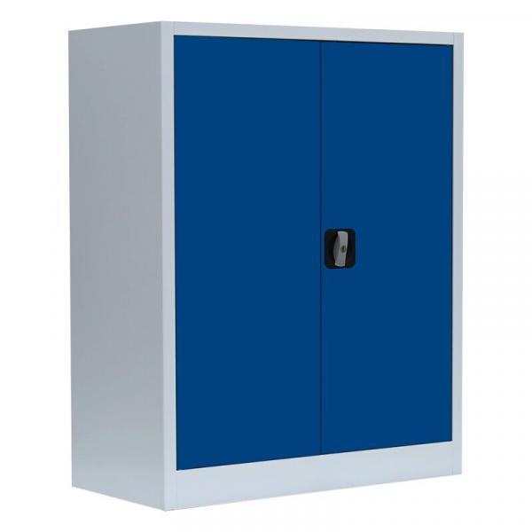 Büroschrank mit Flügeltüren - 2 Einlegeböden - 1000x800x383 mm (HxBxT)