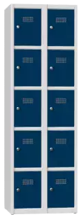 Schließfachschrank - 2 Abteile - 10 Fächer - 1850x600x500 mm (HxBxT)