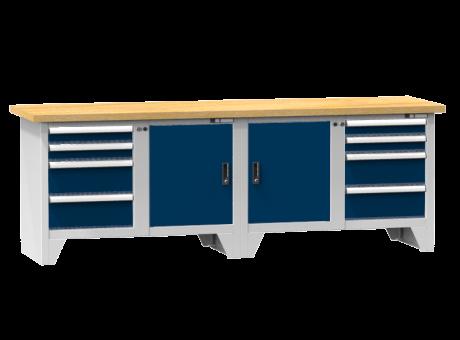 Modulare Werkbank PS3-1/1M - 8 Schubladen, 2 Türen, 2 Fachböden