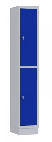 Garderobenschrank - 1 Abteil - 2 Fächer - 1950x320x480 mm (HxBxT)