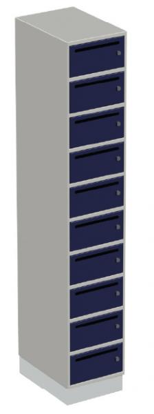 Postschrank - 1 Abteil - 10 Fächer - 1900x350x500 mm (HxBxT)
