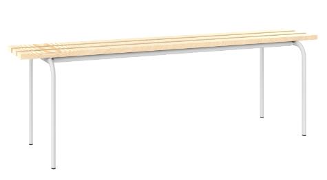 Sitzbank freistehend - mit 3 Holzlatten - 460x1200x420 mm (HxBxT)