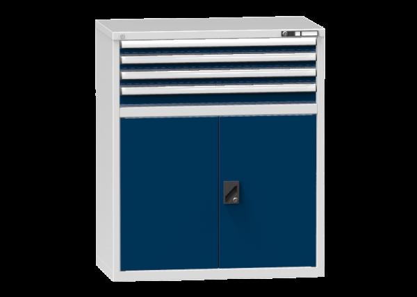 Schubladenschrank - Standcontainer - 3+1 Schublade, 1x Tür 750mm - 1215x1037x600 mm (HxBxT)