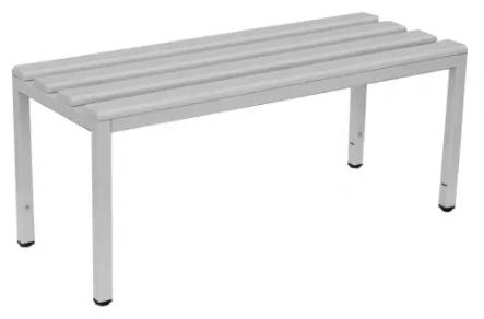 Sitzbank freistehend - ohne Schuhrost - Lichtgrau - verschiedene Größen
