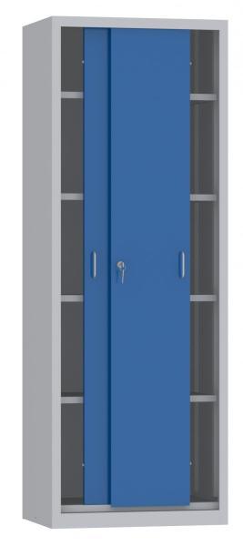 Schiebetürenschrank - 4 Einlegeböden - 1950x700x500 mm (HxBxT)