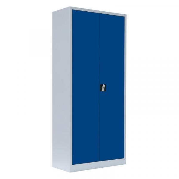 Büroschrank mit Flügeltüren - 4 Einlegeböden - 1800x800x383 mm (HxBxT)