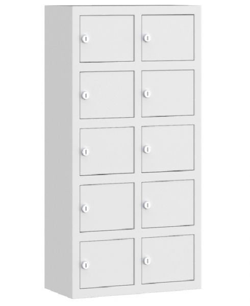 Wertfachschrank mini - stehend oder hängend - 2 Abteile - 10 Fächer - 780x390x200 mm (HxBxT)