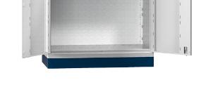 Hubwagensockel - für Flügeltürenschrank SK1 - Höhe: 100 mm