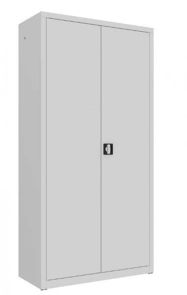 Büroschrank m. Flügeltüren - Fach m. Kleiderstange, Hutablage - 4 Fächer - 1990x1000x435 mm (HxBxT)