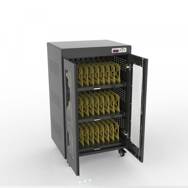 """Notebook-Ladewagen für bis zu 30 Geräte - bis 14"""" - schwarz - inkl. UV-C Desinfektion und Smart Con"""