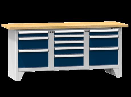 Modulare Werkbank PS2-6/6M - 11 Schubladen