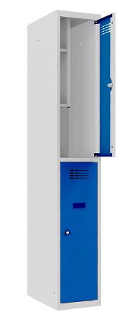 Garderobenschrank - 1 Abteil - 2 Fächer - for young people - 1450x300x500 mm (HxBxT)
