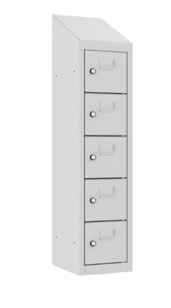Schließfach/Kantinenschrank - 1 Abteil - 5 Fächer - hängend - 1090x240x300 mm (HxBxT)