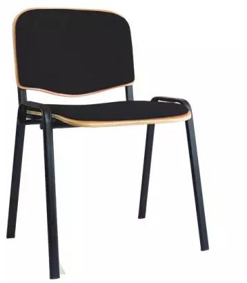 Besucherstuhl - Buchenschichtholz gepolstert - 450/810 x 545 x 425 mm (HxBxT) - tiefschwarz