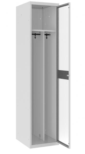 Spind - 1 Abteil - Plexiglas Tür - 1800x400x500 mm (HxBxT)