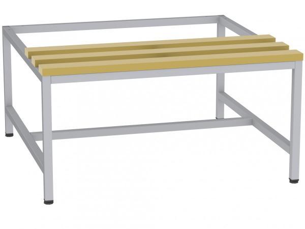 Sitzbank mit Holzlatten - zum Schrank SU400/2 - 395x810x770 mm (HxBxT)
