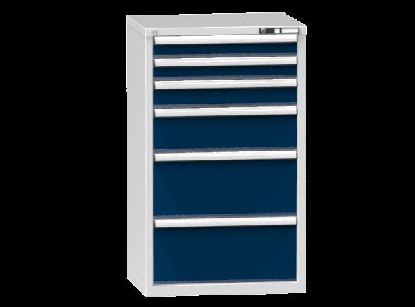 Schubladenschrank - Standcontainer - 2+1+1+2 Schublade - 1215x731x600 mm (HxBxT)