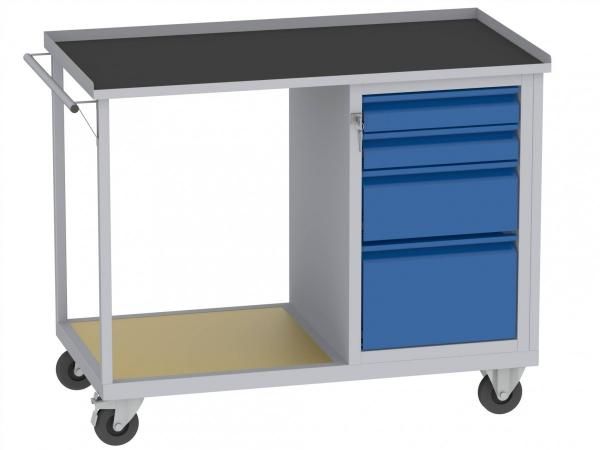 Werkstattwagen, Plattformwagen - 1 + 1 + 2 Schubladen - 890x1150x590 mm (HxBxT) - Schrank E