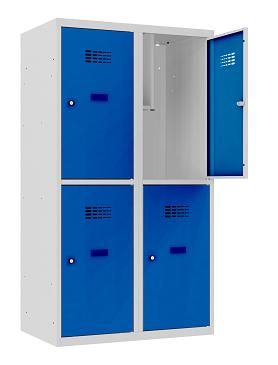 Garderobenschrank - 2 Abteile - 4 Fächer - for young people - 1450x800x500 mm (HxBxT)