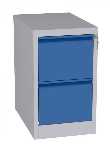 Karteischrank - 2 Schubladen - 710x415x630 mm (HxBxT) - Hängeregister A5 - senkrecht - 2 Reihen