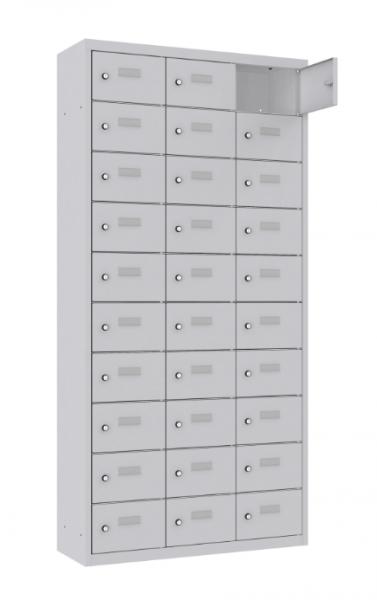 Schließfach/Kantinenschrank - 3 Abteile - 30 Fächer - stehend - 1800x875x500 mm (HxBxT)