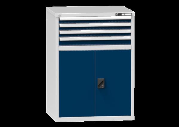 Schubladenschrank - Standcontainer - 3+1 Schublade, 1x Tür 800mm - 1215x884x753 mm (HxBxT)