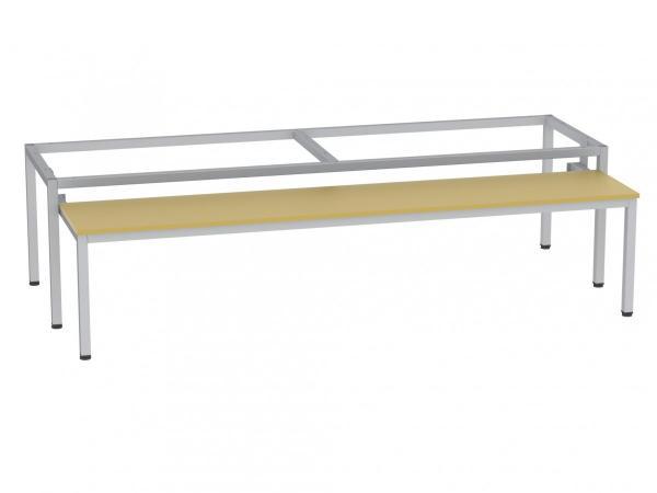 Sitzbank - ausziehbar - zum Schrank SU400/4 - 395x1590x770 mm (HxBxT) - (v. Auszug 485mm)