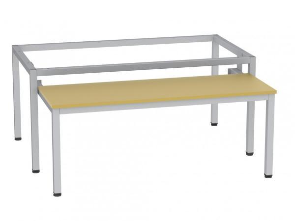 Sitzbank - ausziehbar - zum Schrank SU300/3 - 395x900x770 mm (HxBxT) - (v. Auszug 485mm)