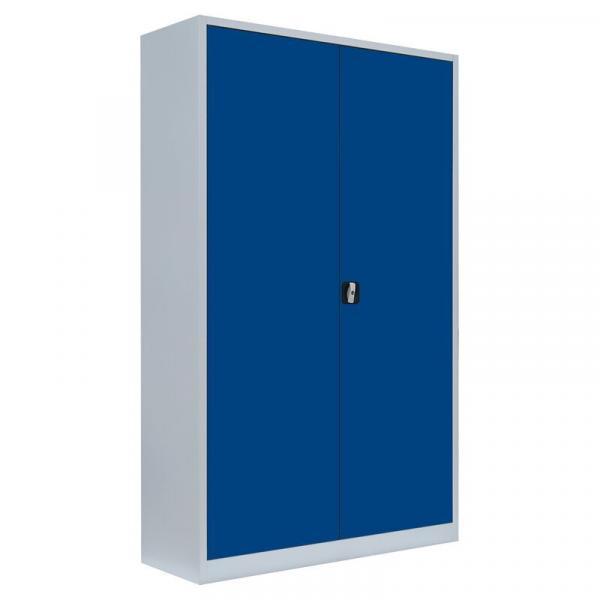 Büroschrank mit Flügeltüren - 4 Einlegeböden - 1950x1200x422 mm (HxBxT)