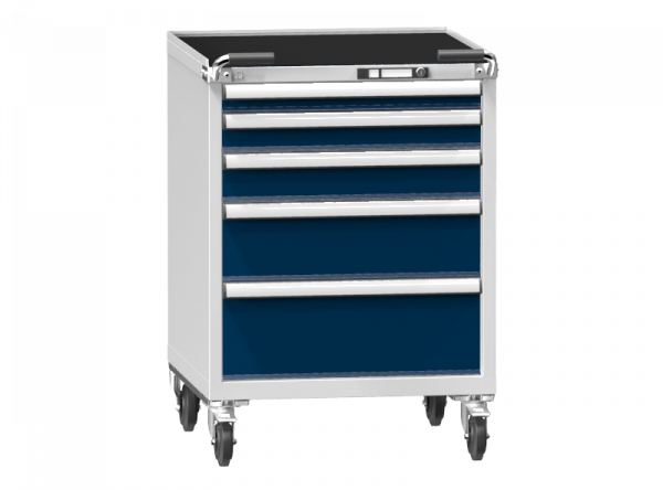 Mobile Container - Rollcontainer - 1+1+1+1+1 Schublade - 1060x731x753 mm (HxBxT)