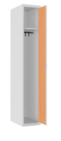 Spind - 1 Abteil - MDF Tür - 1800x300x500 mm (HxBxT)