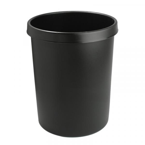 Papierkorb, Mülleimer - schwarz