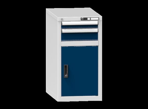 Schubladenschrank - Standcontainer - 1+1 Schublade, 1x Tür 550 mm - 840x442x753 mm (HxBxT)