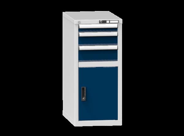 Schubladenschrank - Standcontainer - 1 Schublade, 1x Tür 550 mm - 990x442x753 mm (HxBxT)