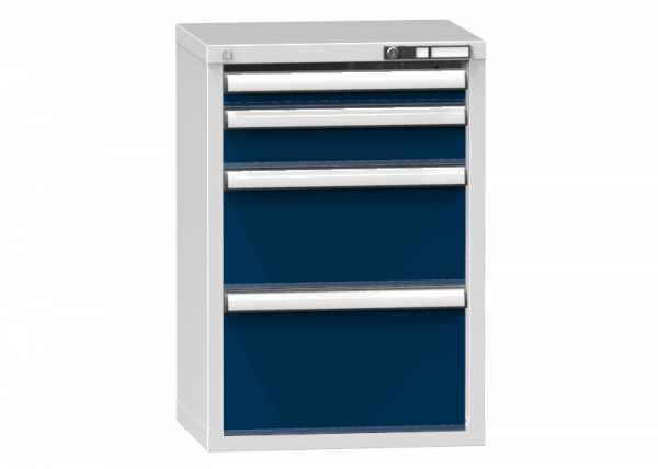 Schubladenschrank - Standcontainer - 1+1+1+1 Schublade - 840x578x464 mm (HxBxT)