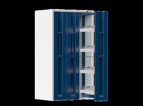 Vertikale Schränke - mit ausziebaren Türen - 4x Werkzeugrahmen - 1950x1044x790 mm (HxBxT)