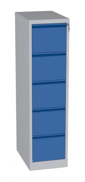 Karteischrank - 5 Schubladen - 1570x415x630 mm (HxBxT) - Hängeregister A4 - waagerecht - 1 Reihe