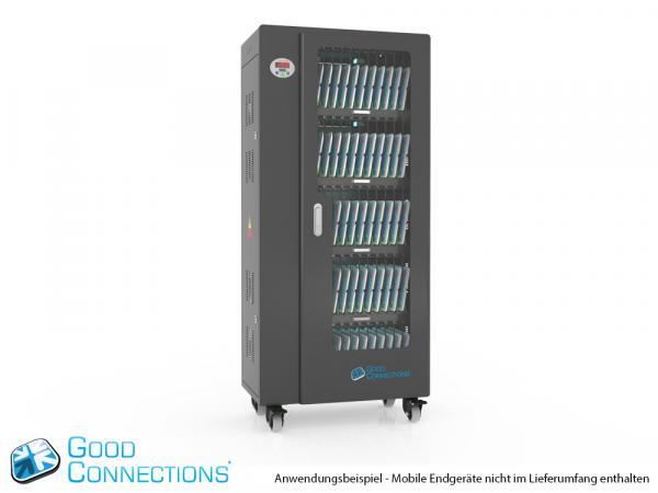 Tablet-Ladewagen für bis zu 60 Geräte - inkl. UV-C Desinfektion, Smart Control, Synchronisierung
