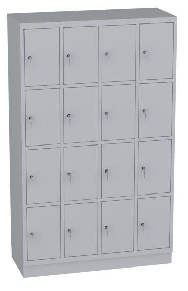 Schließfachschrank - 4 Abteile - 16 Fächer - 1950x1190x480 mm (HxBxT)