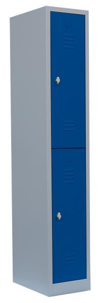 Garderobenschrank -1 Abteil - 2 Fächer - 1800x315x500 mm (HxBxT)